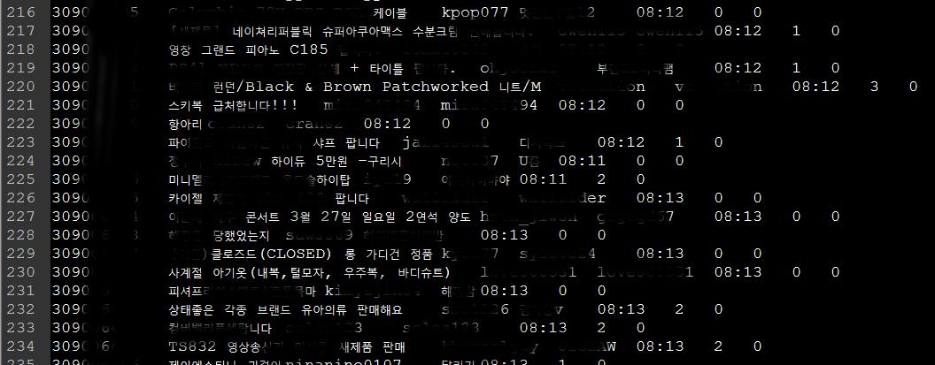 [C#] 네이버 카페 글 목록 및 내용 수집